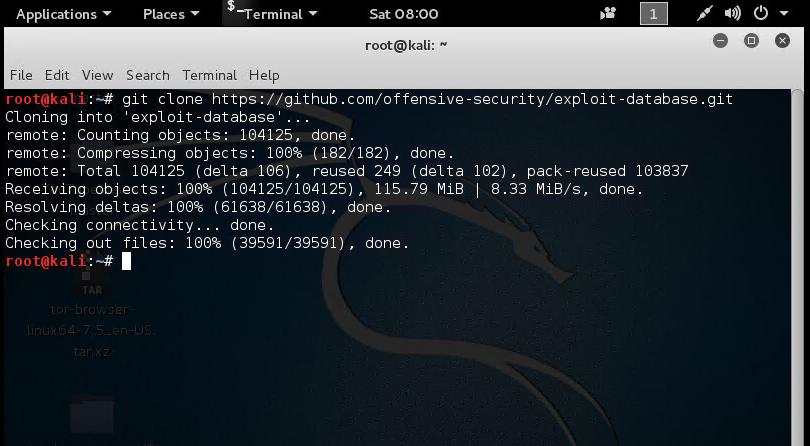 Install SearchSploit on Kali Linux