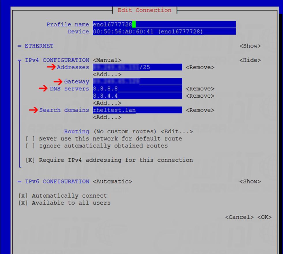 Configure Static IP in CentOS 7